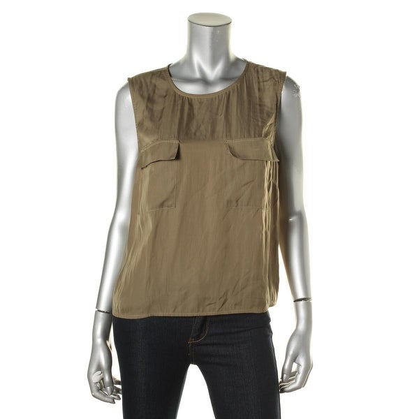 Vince Camuto Womens Blouse Solid Sleeveless
