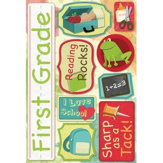 Cardstock Stickers-First Grade