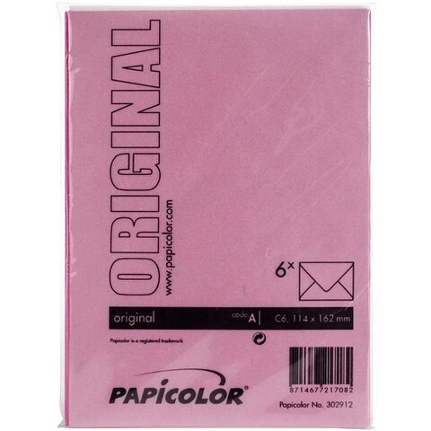 Bright Pink - Papicolor A6 Envelopes 6/Pkg
