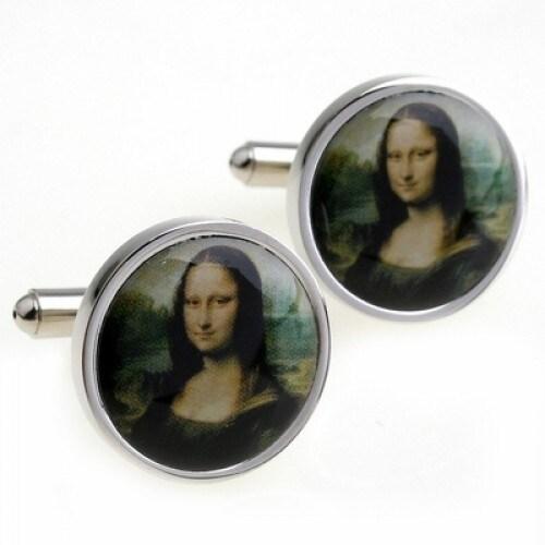 Mona Lisa Leonardo Da Vinci Artist Masterpiece Cufflinks