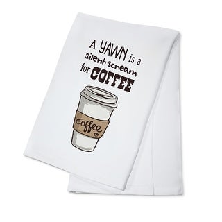 Coffee Cup Yawn Silent is Scream Coffee LP Artwork (100% Cotton Towel Absorbent)