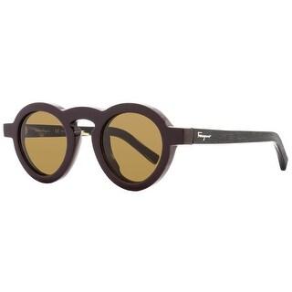 Salvatore Ferragamo Womens Round Sunglasses UV Protection Fashion - Burgundy - o/s