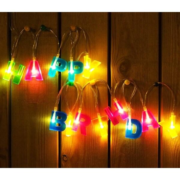 HAPPY BIRTHDAY Letter Shaped LED Decoration Light 51ft 13 LEDs String Lights