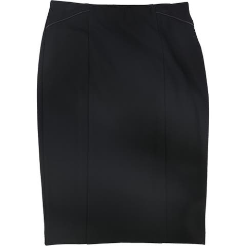 Alfani Womens Faux Leather Trim Pencil Skirt