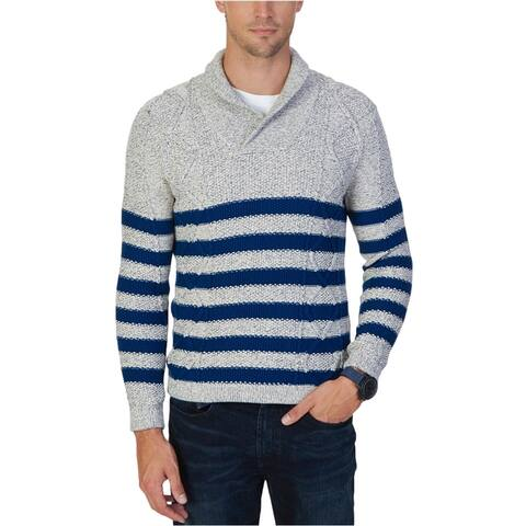 Nautica Mens Multi-Textured Knit Sweater