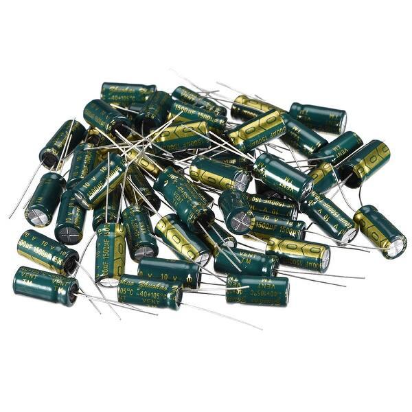 10V 1500uF Electrolytic Radial Capacitors 105°C ±20/%  8mm x 16mm