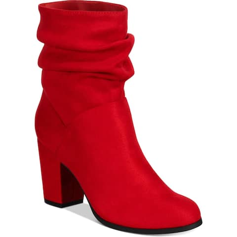 Material Girl Womens Midory Dress Boots Faux Suede Heels