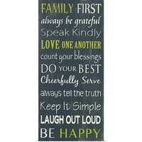 Holly Stadler Poster Print entitled Family First - Multi-color