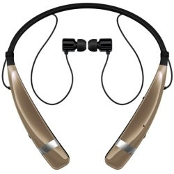 LG Tone Pro Bluetooth Headset HBS-770 for Bluetooth Enabled Devices - Gold