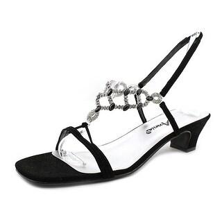 Annie Shoes Allison Women Open Toe Synthetic Black Sandals