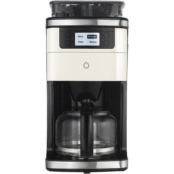Smart iCoffee Brew Coffee Maker with Built-in Grinder, Smarter App, and 3 Interchangeable Color Panels (Cream, Black, Red). Opens flyout.