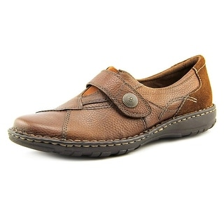 Earth Origins Evelyn Women W Round Toe Leather Loafer