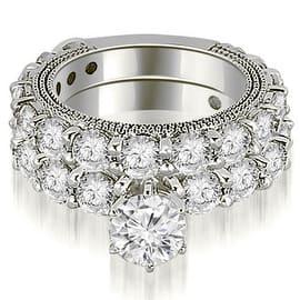 4.15 cttw. 14K White Gold Antique Round Cut Diamond Engagement Set (Option: 3) https://ak1.ostkcdn.com/images/products/is/images/direct/0c55b46cbb36f1d9ebce5043368b9cdd0e8fafbe/4.15-cttw.-14K-White-Gold-Antique-Round-Cut-Diamond-Engagement-Set-%28I1%2C-H-I%29.jpg?impolicy=medium