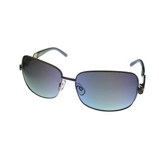 Esprit Womens Sunglass 19324 543 Silver Blue Aviator, Smoke Gradient Lens - Medium
