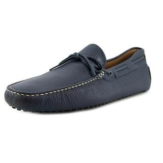 Tod's new laccetto occh new commini 122 Men Square Toe Leather Blue Loafer