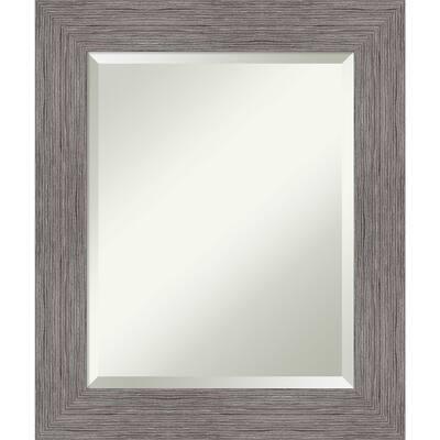 Pinstripe Plank Grey Bathroom Vanity Wall Mirror