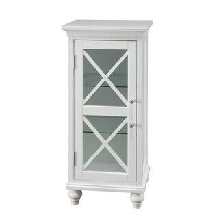 Elegant Home Fashions Blue Ridge Floor Single Door Cabinet in White
