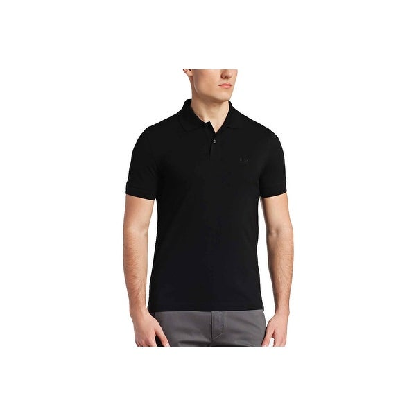Hugo Boss Green Men's C-Firenze Classic Fine Pique Polo Shirt Black