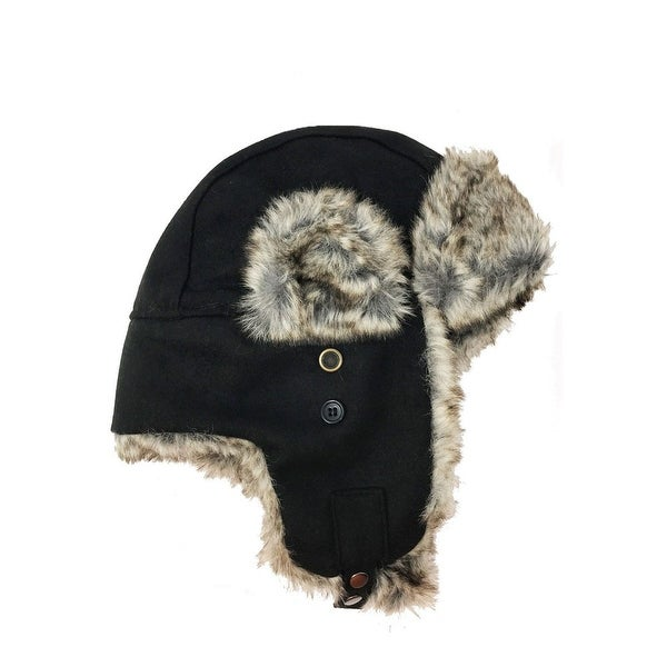 Shop Apt. 9 Men Wool Blend Bomber Aviator Trapper Earflaps Hat Faux Fur  Black OS - One size - Free Shipping On Orders Over  45 - Overstock -  23091946 838083bd29c