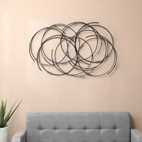 Black Metal Abstract Circular Wall Decor