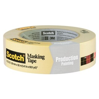 "Scotch 2020-1.5A General Purpose Masking Tape, 1-1/2"" x 60 Yard"