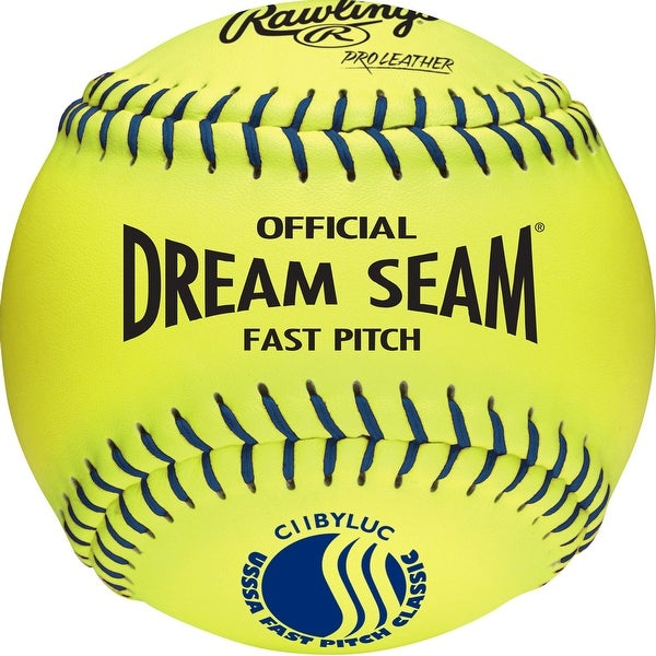 """Rawlings Pro Leather Official USSSA 11"""" Fastpitch Softball Optic Yellow 11"""