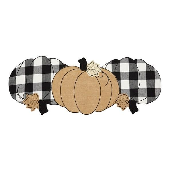 Burlap And Check Pumpkin Centerpiece Runner 13 X36 Overstock 28242572