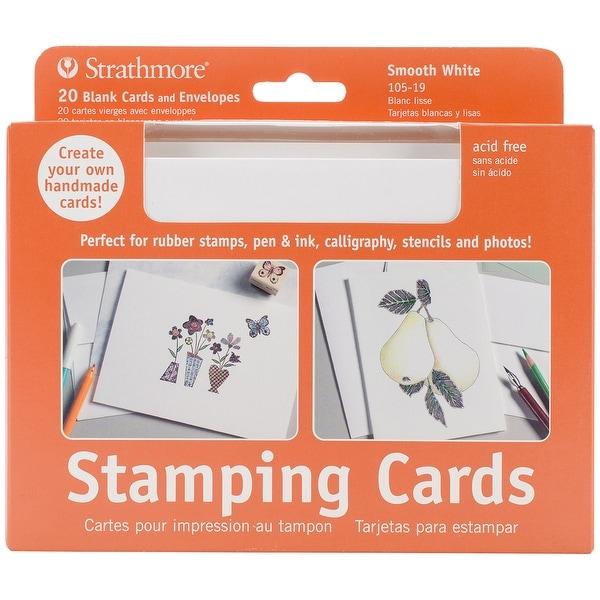 """Strathmore Cards & Envelopes 5""""X6.875"""" 20/Pkg-Stamping"""