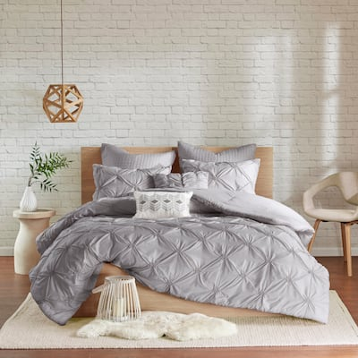 Copper Grove Clanninick Grey Embroidered 7-piece Comforter Set With Pintuck Detailing