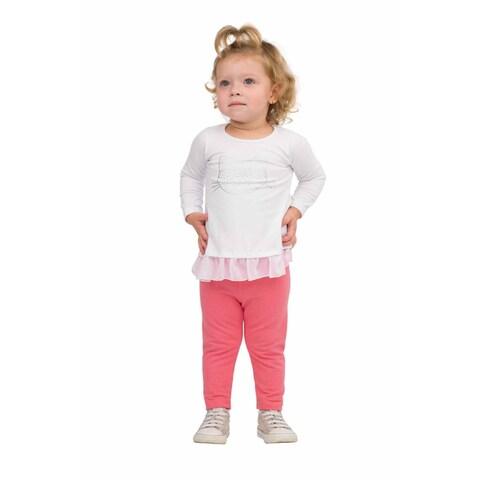 Pulla Bulla Baby Girl Leggings Color Stretch Pants