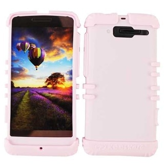Rocker Series Silicone Protector Case for Motorola XT907 / Droid Razr M  (Pink)