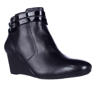 naturalizer Nikole Wedge Booties - Black