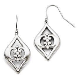Chisel Stainless Steel Shepherd Hook Dangle Earrings