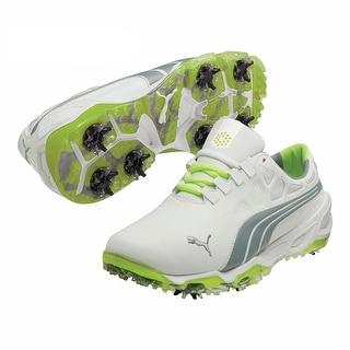 Puma Men's Biofusion White/Tradewinds/Fluro Yellow Golf Shoes 187089-02