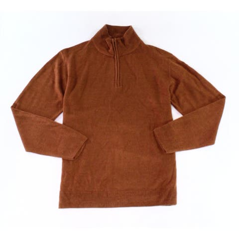 Weatherproof Spice Brown Men Size XL 1/4 Zip Soft Touch Pullover Sweater