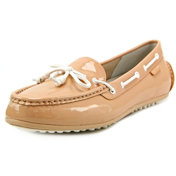 Cole Haan Grant Lte Women Moc Toe Patent Leather Pink Loafer