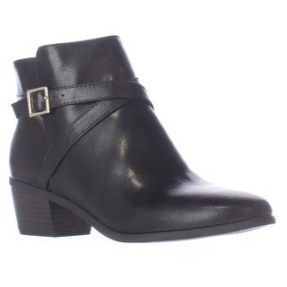 KS35 Flynne Buckle Ankle Boots, Black