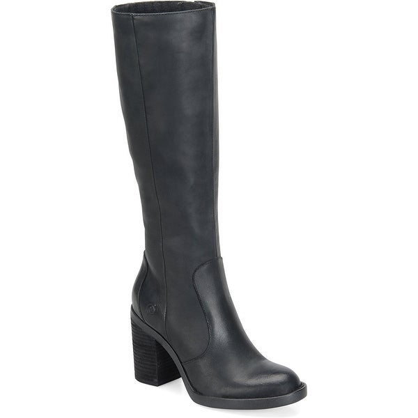 B.O.C Womens malika Leather Round Toe Mid-Calf Fashion Boots