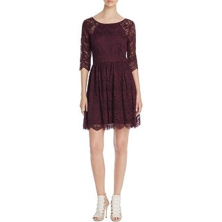 Cupcakes and Cashmere Womens Party Dress Lace Sheer Sleeves