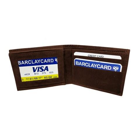 Leather Wallet, Bi-Fold - Brown