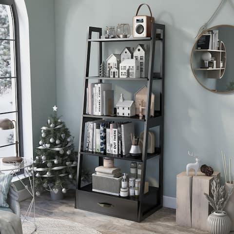 Copper Grove Stryi Contemporary 5-tier Ladder Bookshelf