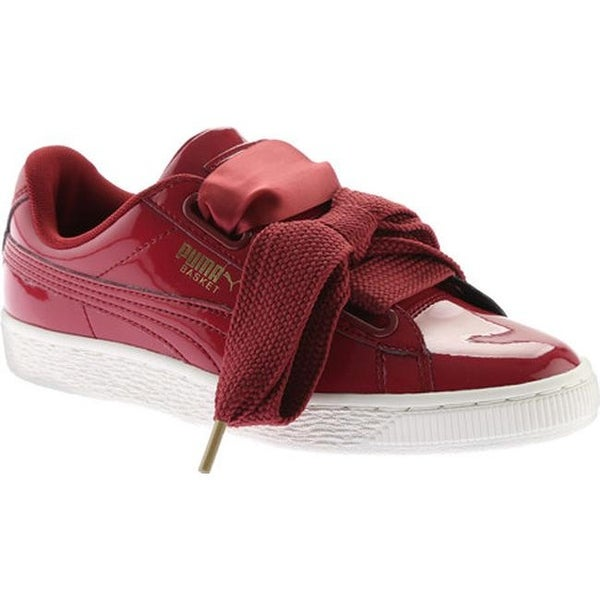sports shoes f8afa a5fe8 Shop PUMA Women's Basket Heart Patent Sneaker Tibetan Red ...