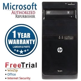 Refurbished HP Pro 3400 Tower Intel Core I3 2100 3.1G 8G DDR3 1TB DVD WIN 10 Pro 64 1 Year Warranty
