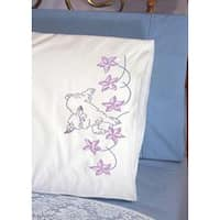 "Lamb - Stamped Perle Edge Pillowcases 30""X20"" 2/Pkg"