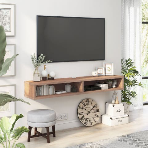 Carson Carrington Rydstorp 60-inch 2-shelf Wall-mounted TV Console