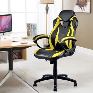 Shop Costway Executive Race Car Style Chair High Back