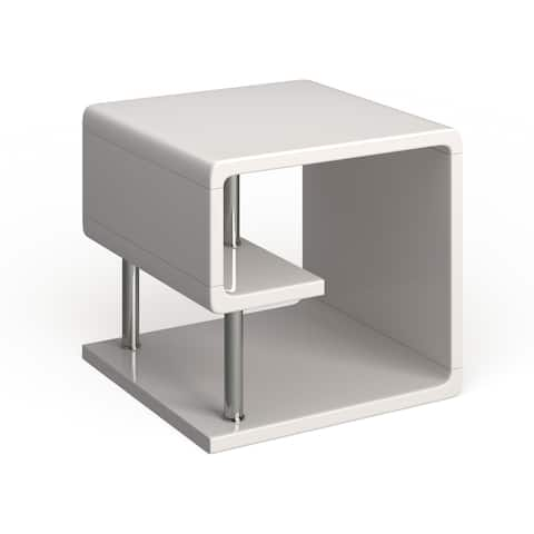 Furniture of America Inomata Modern Geometric High Gloss End Table
