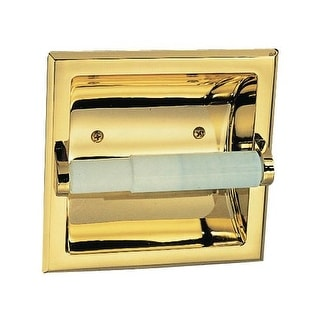 Design House 533372 Polished Brass Toilet Paper Holder from the Millbridge Collection