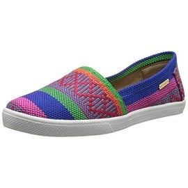 KAANAS Womens Acapulco Woven Striped Fashion Sneakers