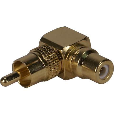 Qvs rca1v-mfr rca m/f 90 degree adaptor